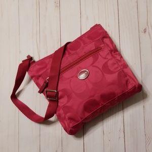 Coach Hot pink over the shoulder bag